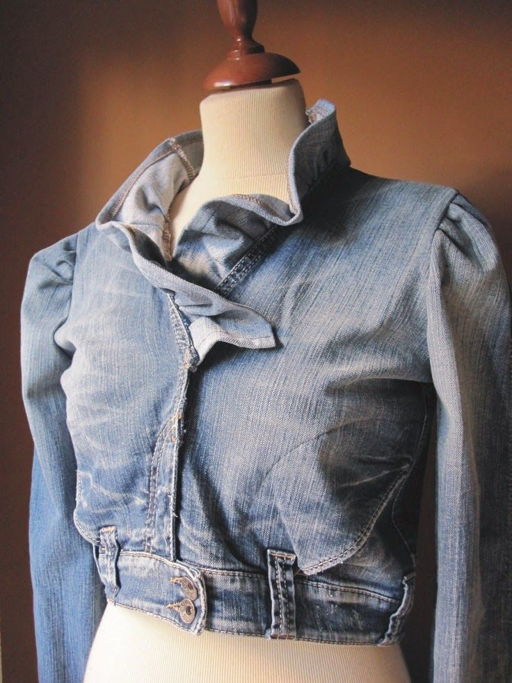 blue jeans, denim, upcycled jacket from blue jeans.