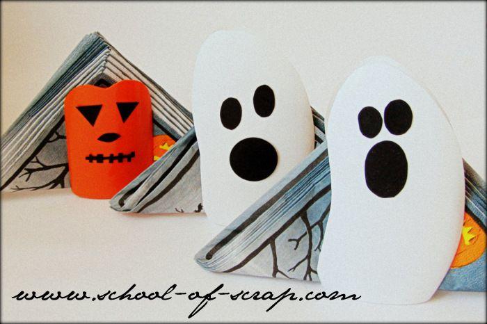 Decorazioni per Halloween: portatovaglioli da tavolo fai da te video tutorial