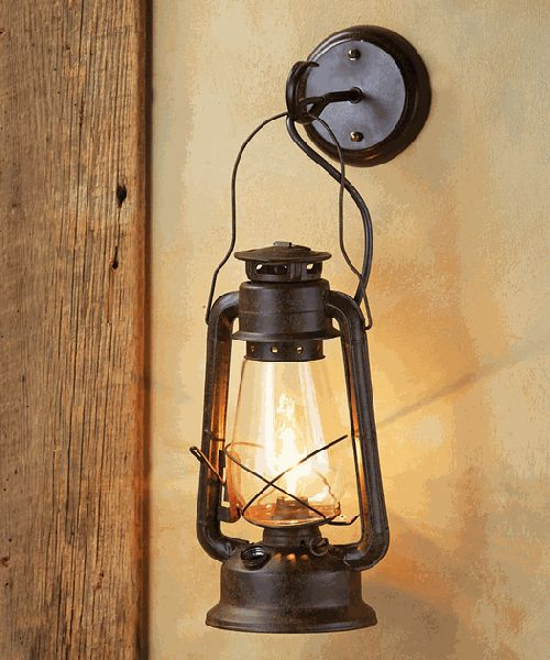 Rustic Lantern Wall Sconce