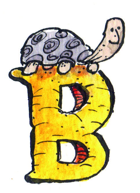 The letter B is Mr. Tortoise's favourite letter in the whole alphabet. We thought it would be T.