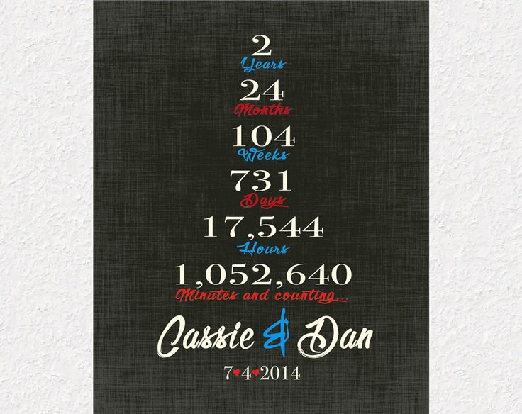 Second Year Wedding Anniversary Gifts For Him: Best 25+ 2 Year Anniversary Ideas On Pinterest