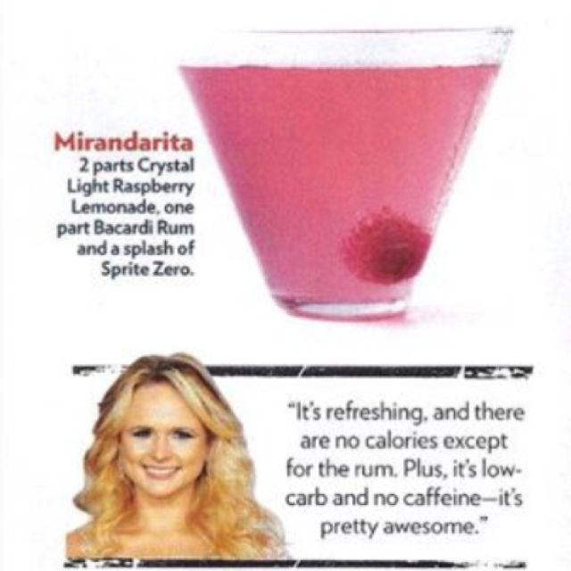 Mirandarita.. A skinny drink for summers by the pool! So ready for summer 2012 with my girls!