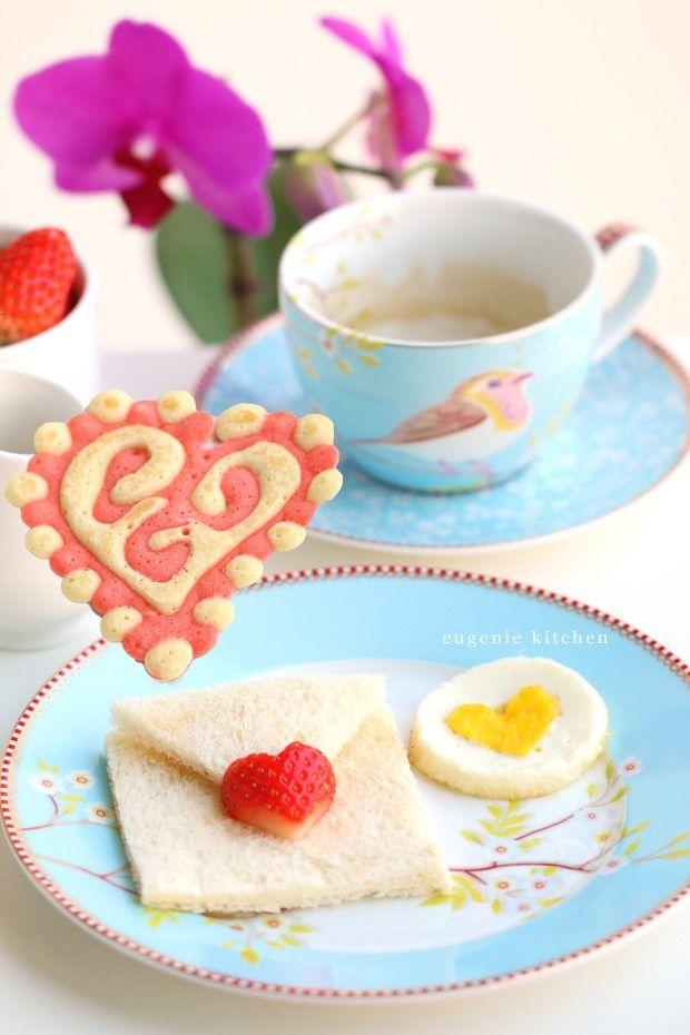 Valentine's Day Heart Pancake Recipe & Brunch Ideas - Eugenie Kitchen
