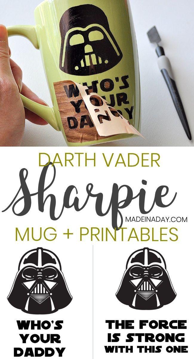 Darth Vader Sharpie Mug Free Printables For Father S Day