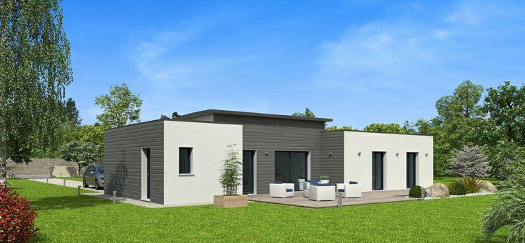 Le mod le natitoa bacacier cette maison plain pied 3 for Modele maison cubique plain pied