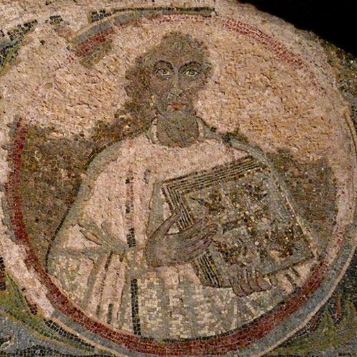 Catacombe di San Gennaro, Napoli. Il mosaico del vescovo di Cartagine San Quodvultdeus. V secolo