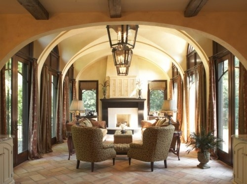arched repeating beamsFloors Pattern, Living Rooms, Outdoor Room, Home Design, Traditional Bathroom, Furniture Placements, Sitting Room, Families Room, Sun Room