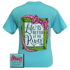 Girlie Girl Originals Life Is Better At The River Comfort Colors Lagoo | SimplyCuteTees