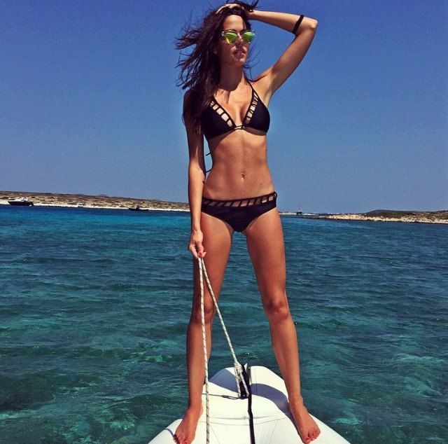 It's a new dawn, it's a new #beachday! @Is__mini out at sea in her @MonaMerBeachwear #Odette #bikini. #wecreateharmony #monamer #swimwear #beachwear #swimsuit   Shop the bikini here: http://www.wecreateharmony.com/designers/m-r/mon-a-mer/odette-black.html