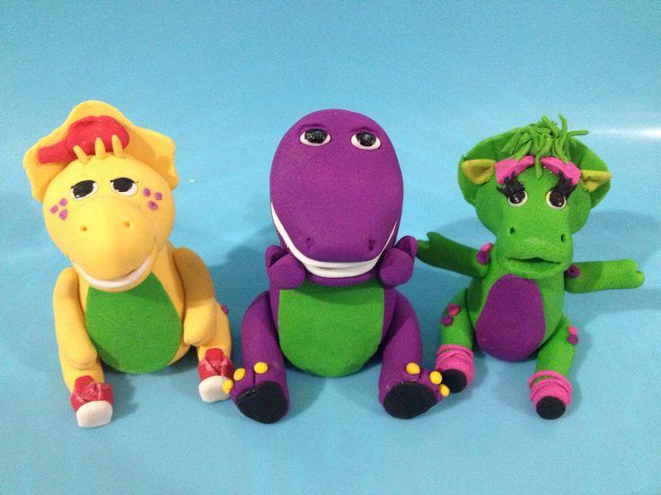 Barney and friends Gumpaste figurines #fun#birthday