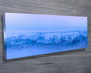Morning Mist Panorama Canvas Wall Art UK