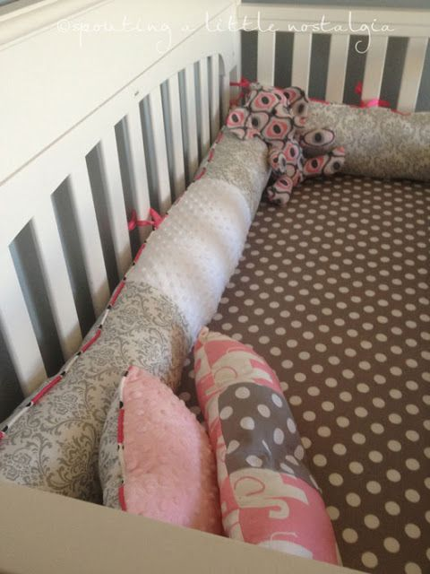 Don't need this now, but this lady knows how to a sew a diy crib set. Yowzer.  Just to be clear - comments about safety are correct - It is not recommended to put anything in the crib with a sleeping infant. Thanks!