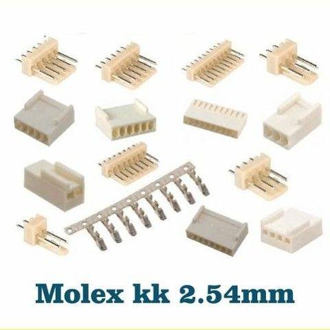 Conector Molex Kk 2.54mm Com 3, 4, 5 E 6 Pinos #503