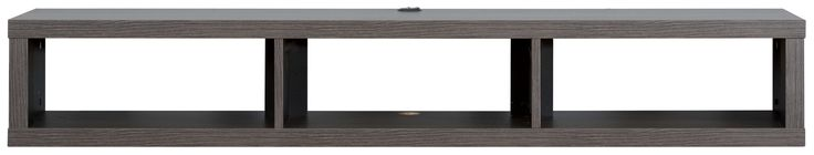 "60"" Shallow Wall Mounted TV Component Shelf"
