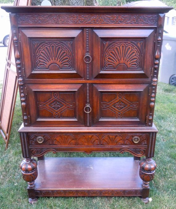 C 1920 S Rockford Furniture Manufacturing Co Bedroom Set: Beautiful Antique 1920's 30's Circa Wardrobe Closet Hutch