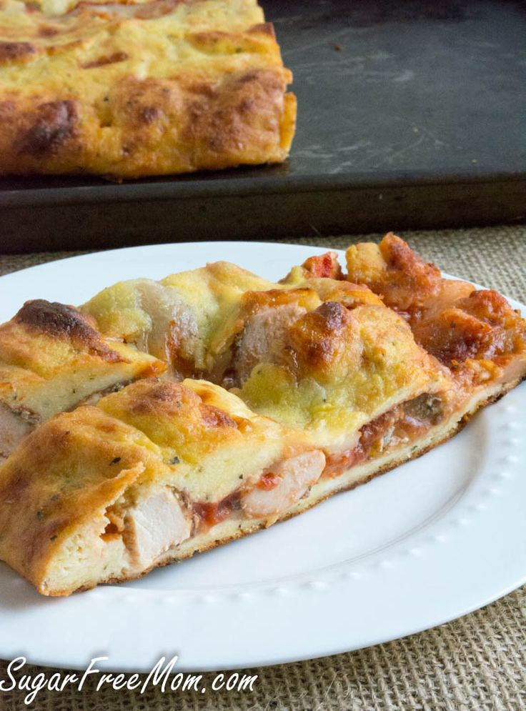 Grain Free Low Carb Chicken Parmesan Calzone