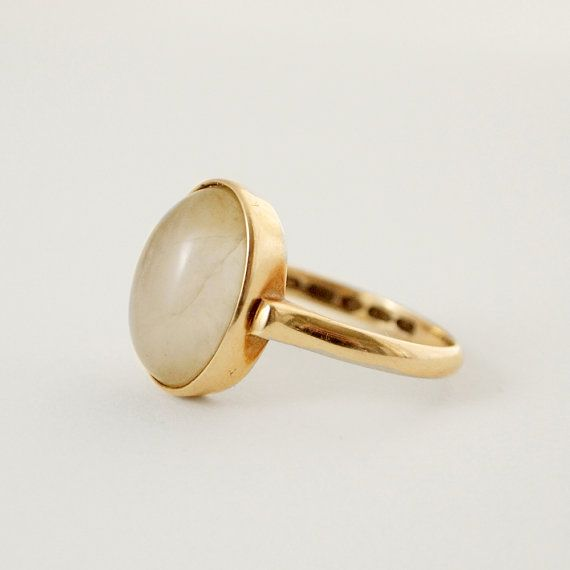 Nils Westerback, modernist 14k solid gold and opal ring, 1970's. #Finland | Hopea20 / etsy