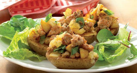 Gevulde aardappelschuitjes