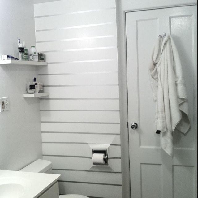 "Homemade ""wallpaper"" using washi tape."