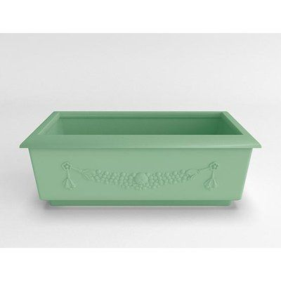 TerraCastProducts Roma Resin Planter Box Color: Mint