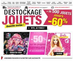 Exclu Web Auchan : déstockage jusqu'à -60% sur plus de 500 jouets | Maxi Bons Plans