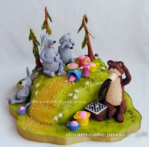 "cake ""Masha and the Bear"""