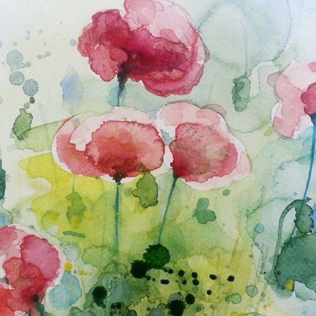 Watercolor. Detail. Peony.