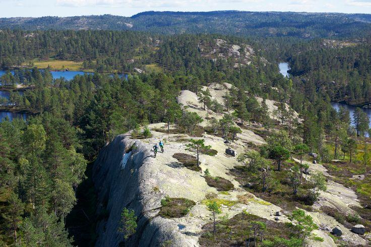 Norrøna gang enjoying the trails
