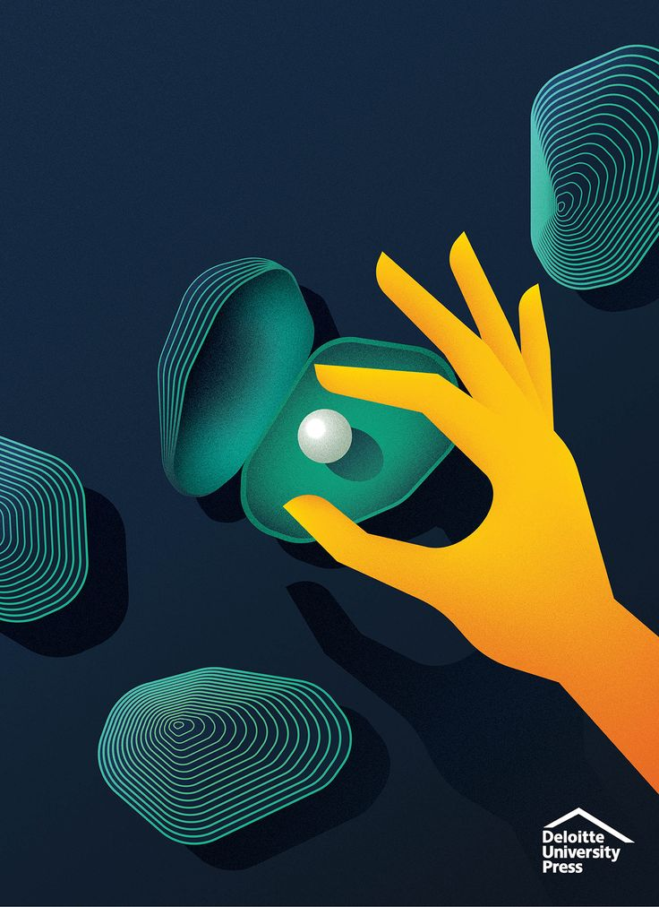 A series of case study covers, illustrated for Deloitte University Press around the theme of 'funding innovation'.