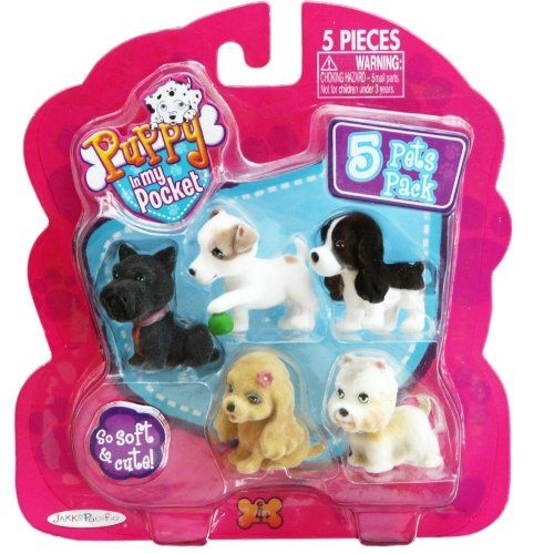 Puppy In My Pocket 5 Pets Pack Laddy Poppy Buffy Petey Daniel