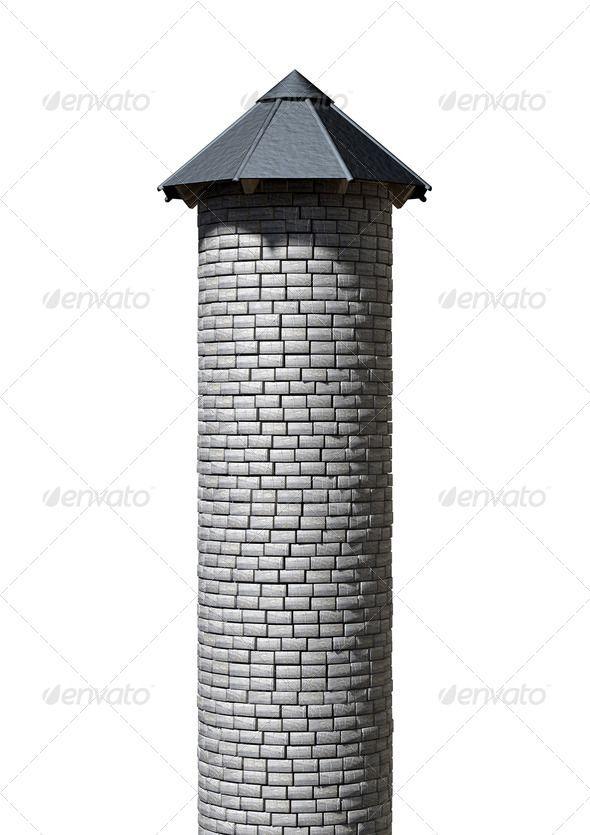 Vintage Castle Spire Building Block