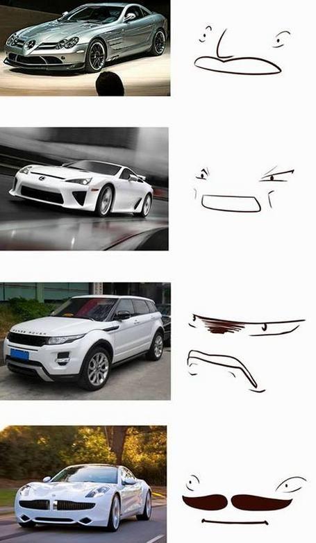 Les visages secrets and techniques des voitures