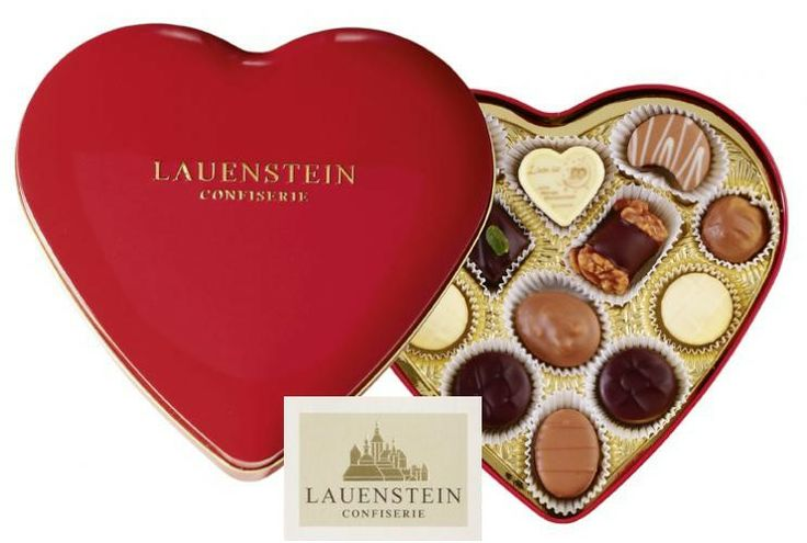GERMANY'S BEST - exclusively in Vancouver: LAUENSTEIN TIN HEART - highest quality chocolates, chocolate specialties