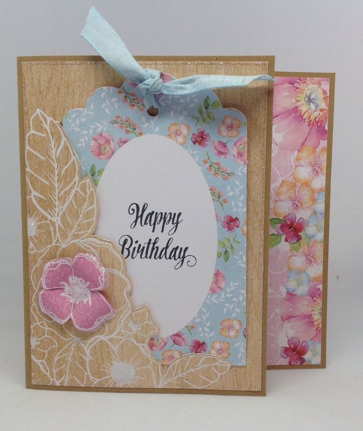 Boutique Floral collection, card created by Julie Hickey.