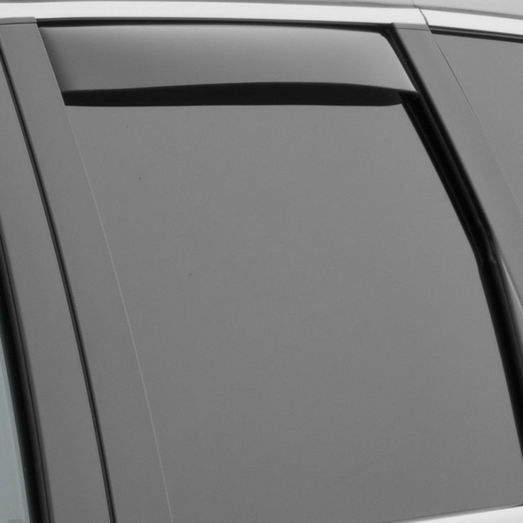 WeatherTech 81562 Series Dark Smoke Rear Side Window Deflectors - Side Window Deflectors WeatherTech(R) Side Window Deflectors, offer fresh air enjoyment with an original equipment look, installing within the window channel. They are crafted from the finest 3mm acrylic material available. Installation is quick and easy, with no exterior tape needed. WeatherTech(R) Side Window Deflectors are precision-machined to perfectly fit your vehicle's window channel. These low profile window deflectors…