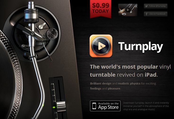 Turnplay - Entire musical era revived on iPad! Touch the legend - AMAZING UI!