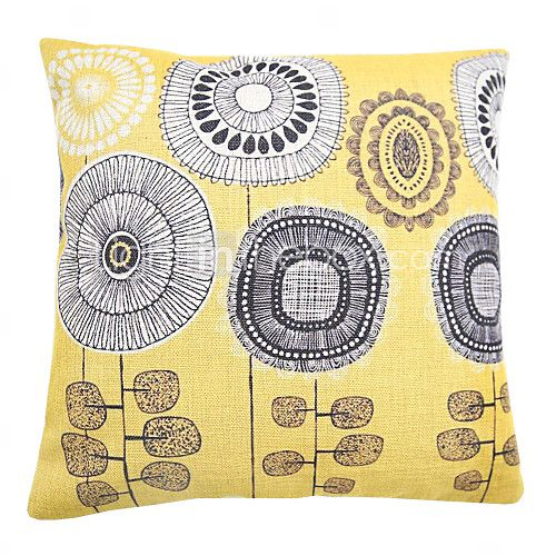 Cotton/Linen Pillow Cover / Pillow With Insert , Floral Country - EUR €16.45