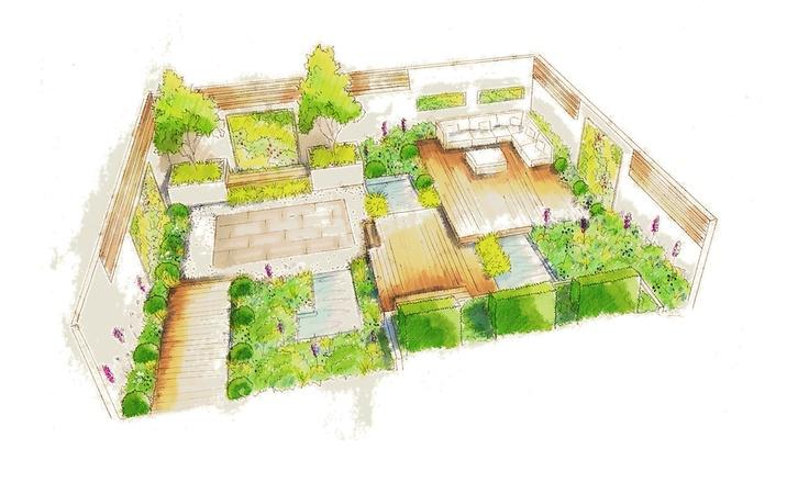 Garden design sketch ideas