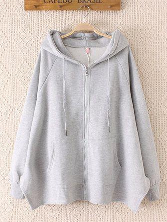 Only US$35.99 , shop Women Plus Velvet Thick Loose Cardigan Sweatshirt at Banggood.com. Buy fashion Sweaters & Cardigans online.