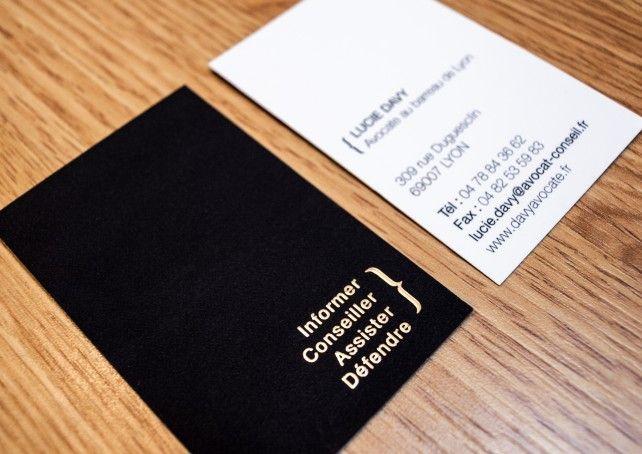 carte de visite avocat lyon - création agence chimere