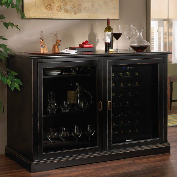 "Let impassioned Italian design steal your heart. Leave it to Italy's finest craftsmen to make you fall in love with furniture. This premium-quality wine credenza is handmade from tulip and walnut hardwoods, then hand-stained patina applications. <br/>Accommodates a 28-Bottle Touchscreen Wine Refrigerator (sold separately)<br/>The Siena Mezzo (mezzo meaning ""half"" in Italian) is roughly half the size of the original Siena Wine Credenza."