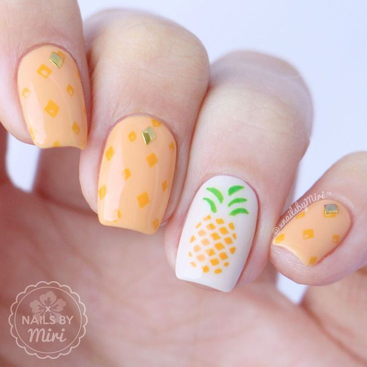 "4,190 Likes, 21 Comments - Nails By Miri || Miriam  (@xnailsbymiri) on Instagram: ""Pineapple nail art  I used pineapple nail vinyls by @BundleMonster #bundlemonster…"""