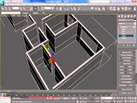 Modelar casa en 3d max partiendo de un plano youtube for Modelar habitacion 3d max