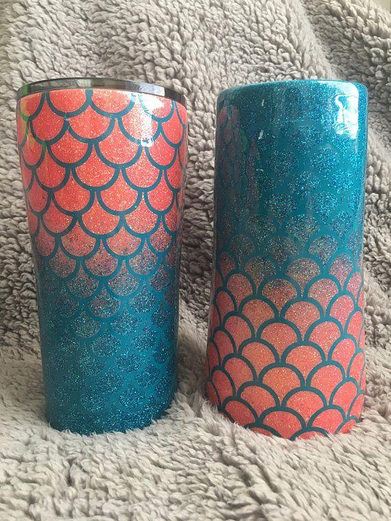 Mermaid Scales Tumbler Cup Mug Travel Mug Scales Fish