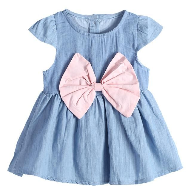 d29f36ce6b261 Fashion Summer Baby Toddler Kids Girls Dresses Clothes Denim Dress ...