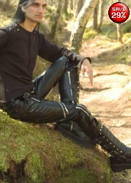 """Gloss PVC bondage zips jeans from Gothic Clothing UK by Drac-In-A-Box 36"""" £42"""