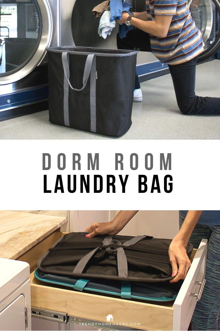 A Laundry Bag That Is Foldable Easy To Store In A Drawer