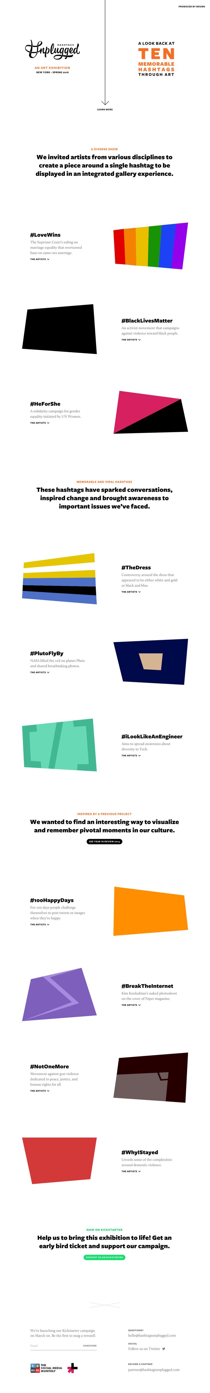 House design hashtags - One Pager For An Upcoming Ny Art Exhibition Called Hashtags Unplugged The Clean