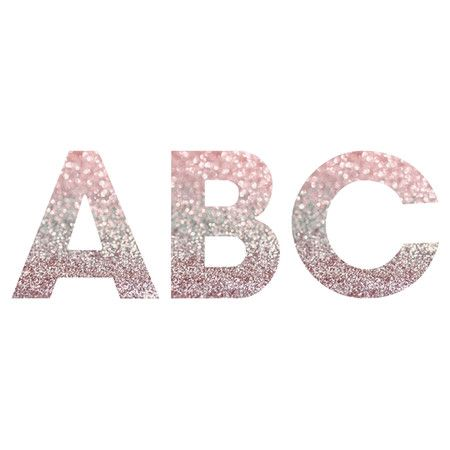 Decorative letter decor with a glitter inspired motif Product: DecorConstruction Material: High - Glitter Home Decor