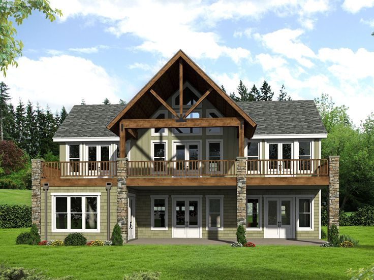 062h 0169 Two Story House Plan Designed For A View 2690 Sf House With Balcony Craftsman House Plans Metal House Plans
